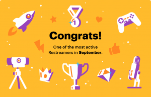 Restream Most Active Streamer: September 2020